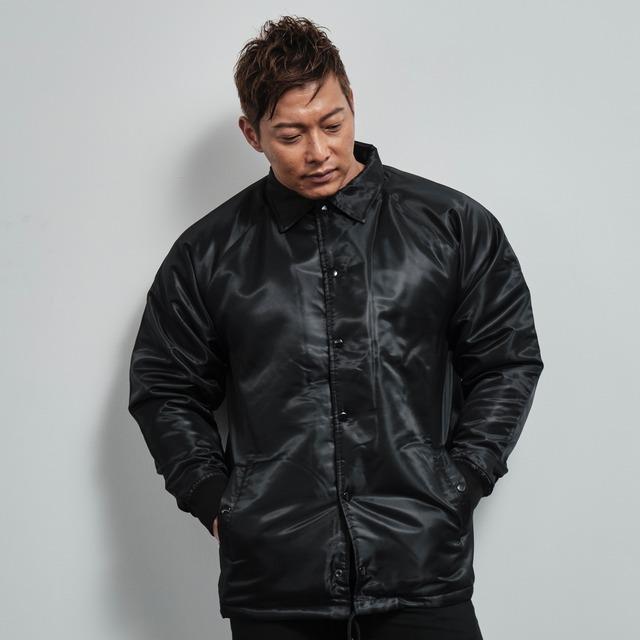 coach jacket with boa lining (BLACK)