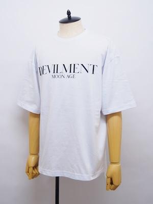 Moonage Devilment (ムーンエイジデビルメント) F/PRINT OVER TEE / WHITE mcs-0636-2