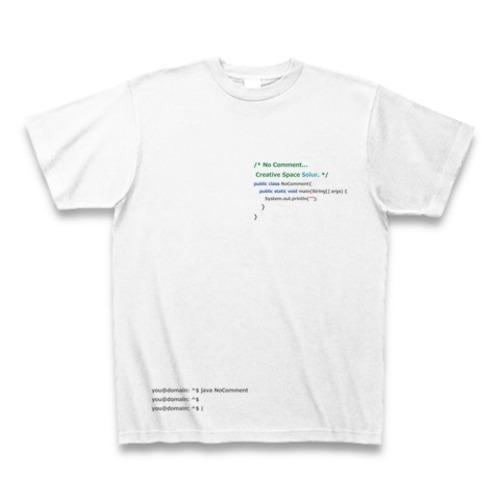 Programming PRINT T-shirt White Ver. - No Comment / Java Language -