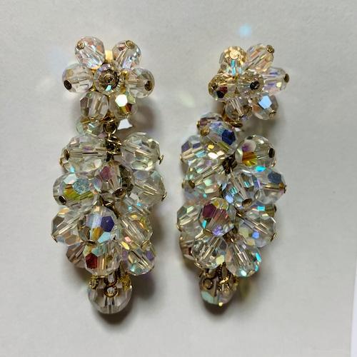 Vintage Aurora Color Bijoux Dangle Earrings ①