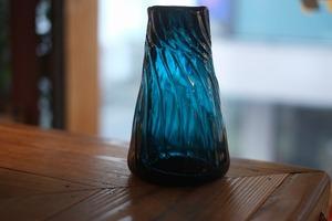 【倉敷ガラス・小谷栄次】◆◆◆筒花瓶◆◆◆小谷ブルー◆◆◆