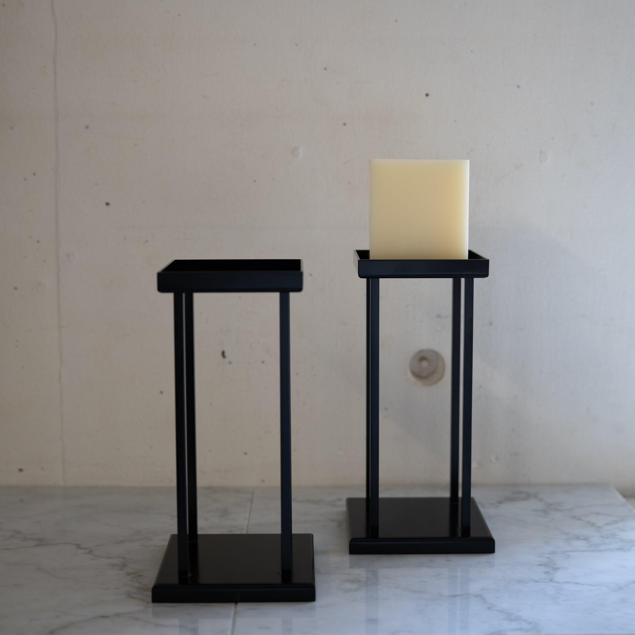 スクエアー 黒燭台