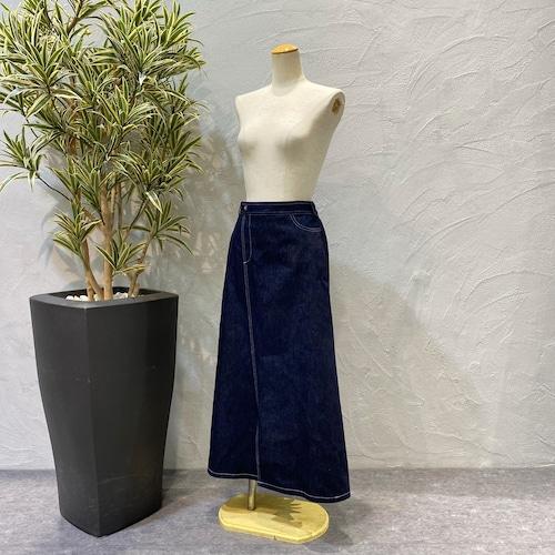 【再入荷】Re-mix/バックプリーツデニムスカート
