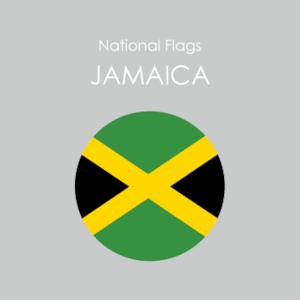円形国旗ステッカー「ジャマイカ」