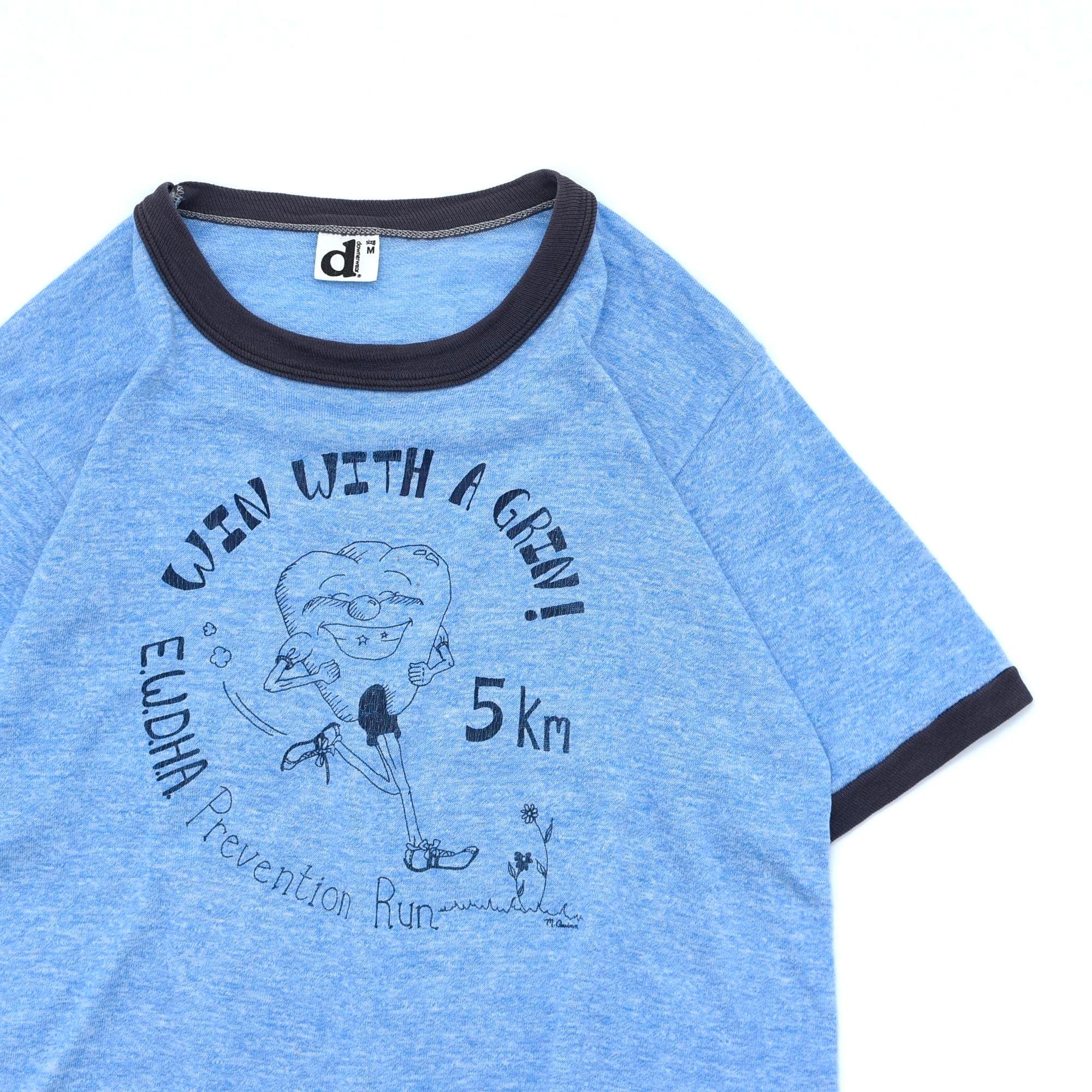 70〜80's downerwear vtg ringer T shirt