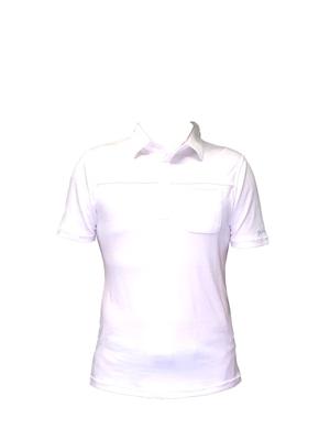 【期間限定2021年8月末まで】P819SS01 接触冷感 メンズポロシャツ(ホワイト)