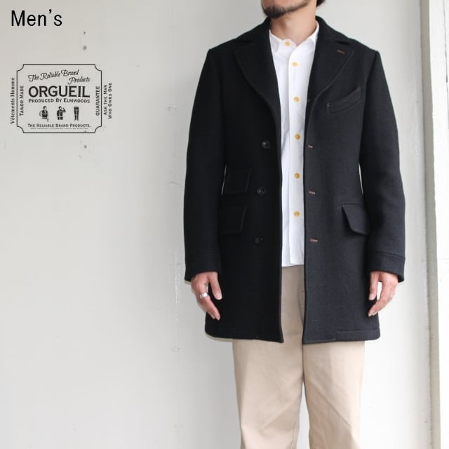 《17AW》ORGUEIL チェスターコート Chesterfield Coat OR-4023B (BLACK)