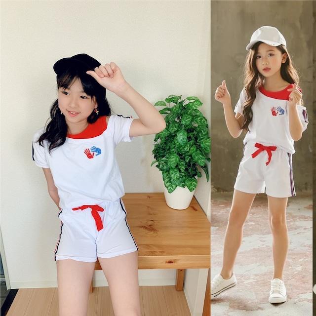 【子供服】女の子 セットアップ ダンス 衣装 韓国 130 140 150 160  子供服