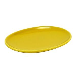 西海陶器 波佐見焼 「コモン」 オーバルプレート 皿 150mm イエロー 17038