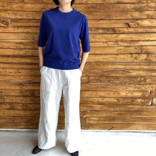 homspun (ホームスパン) 天竺6分袖Tシャツ ダークブルー