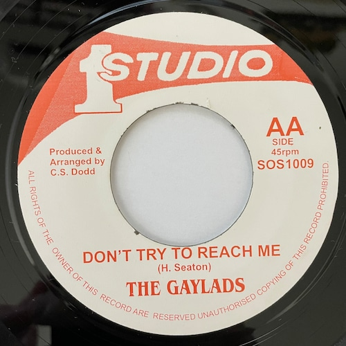 The Gaylads - Don't Try To Reach Me【7-20752】