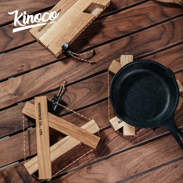 【KINOCO OUTDOOR】天然木 トライアングル 鍋敷き GC-441