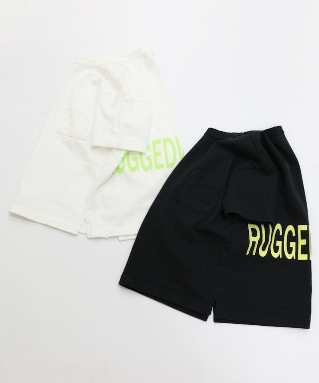 バック蛍光プリントロゴ半袖Tシャツ(日本製)