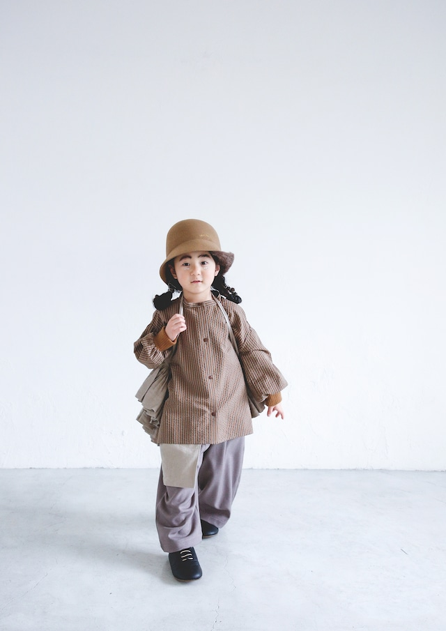 【21AW】ミチリコ(michirico) Stripe Shirts beige【S・M】シャツ