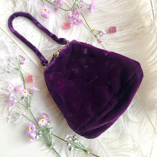 ベルベットのイヴニングバッグ