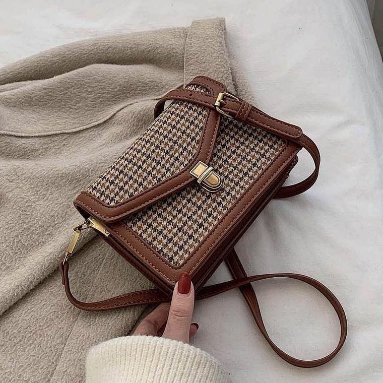 check shoulder bag 3color