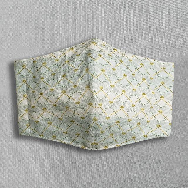 デザイナーズ マスク|蝶|薄緑
