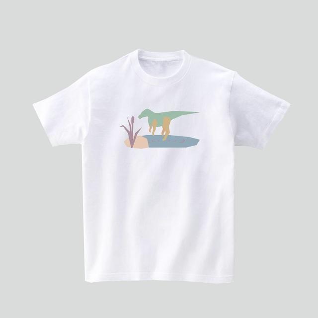 恐竜Tシャツ-ヤマトサウルス(ホワイト)