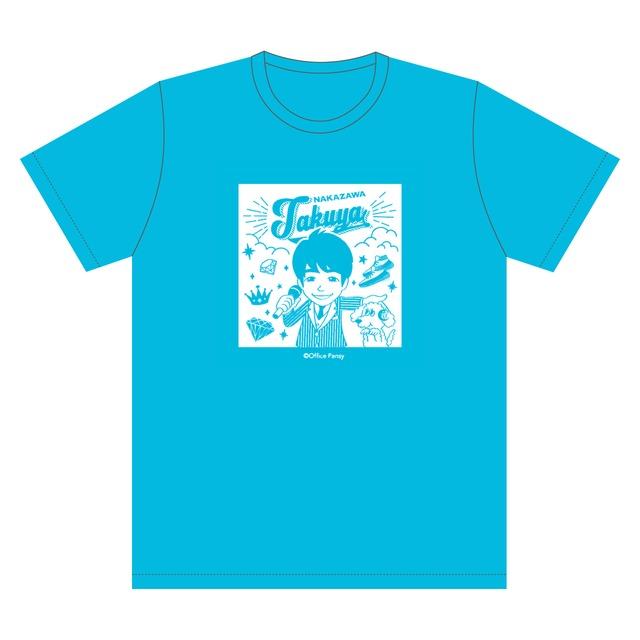 イラストTシャツ(青)