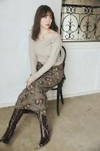 Roses Jacquard Midi Skirt