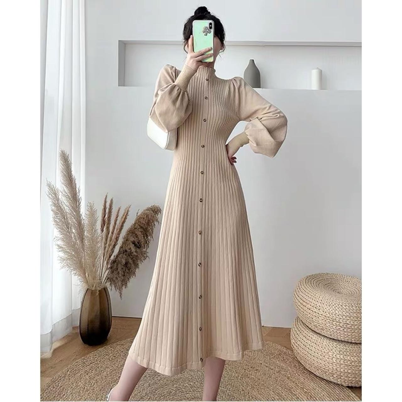 flare sleeve tight dress