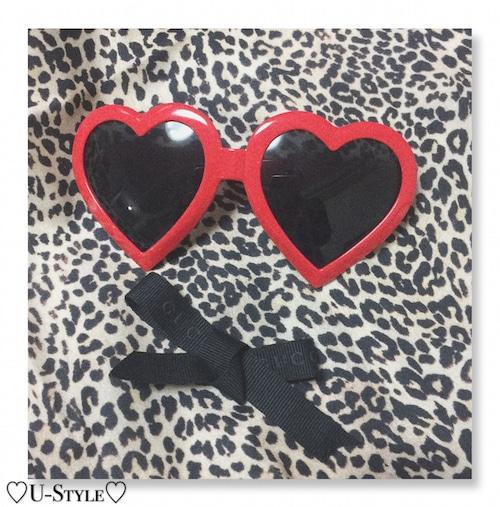 【即日発送】ハート型メガネ