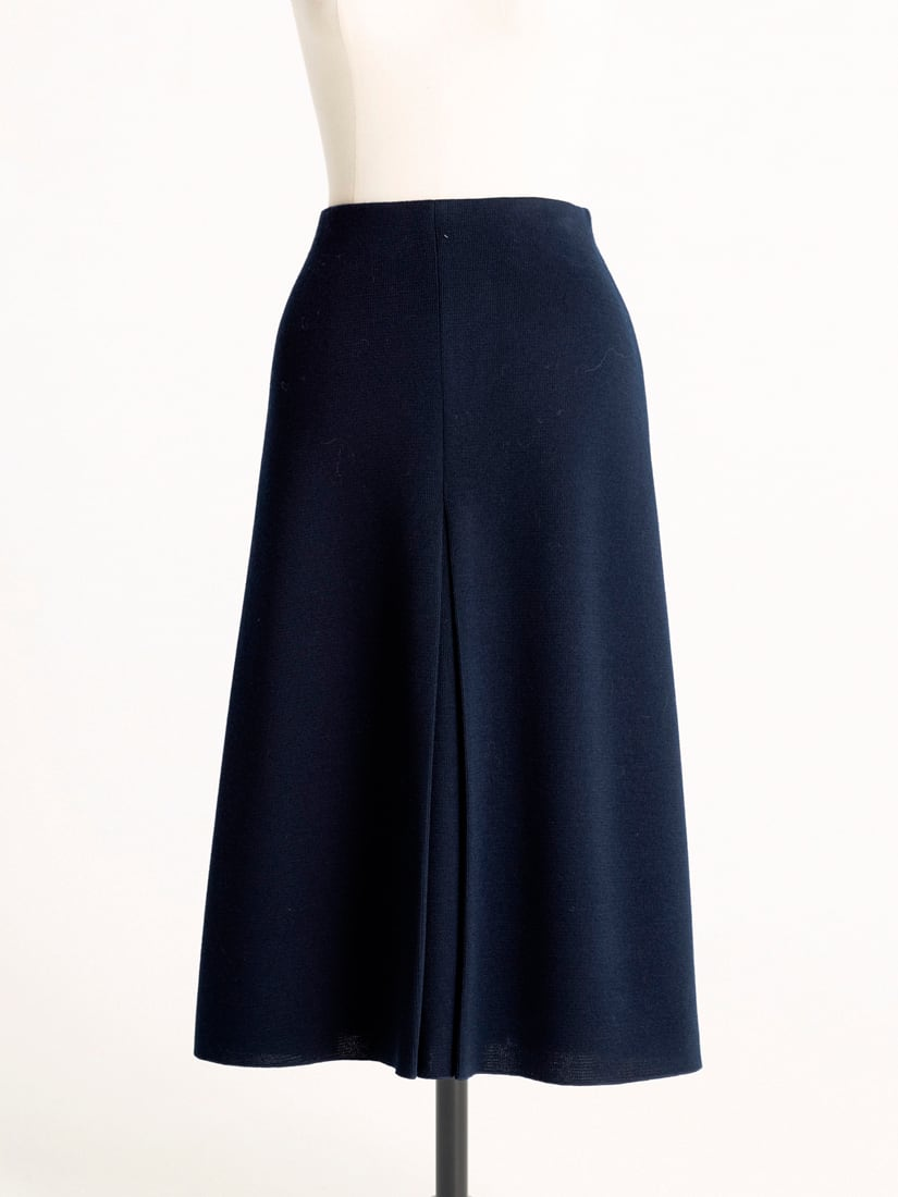 knitted box pleated skirt