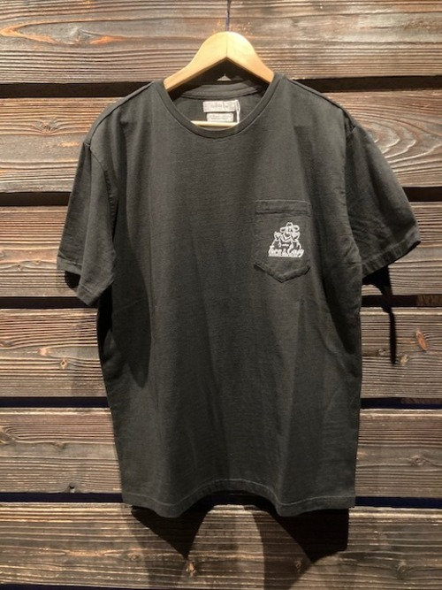 Turn Me On  S/S TEE『TURN&EASY』 collaboration with redrope(BLACK)  Lサイズ  121-445
