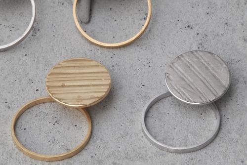 Double circle cymbal earrings【ピアス】