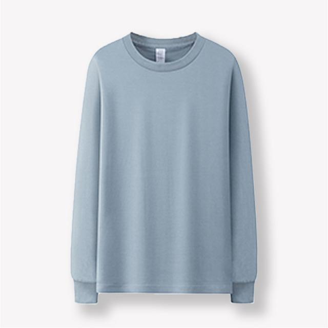 クルーネックロングTシャツ | ロンT  無地T ベーシック レイヤード カラバリ