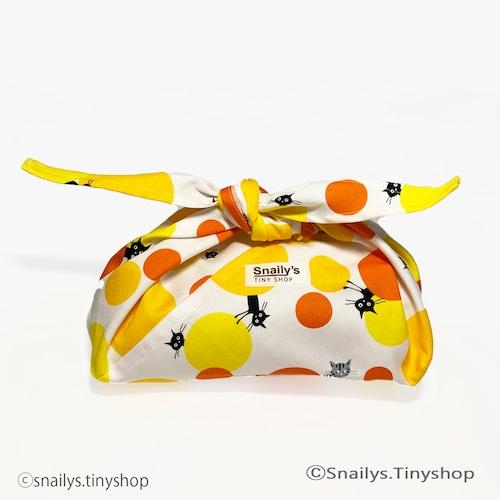 脳を育てるあづま袋―ポッピング!水玉子ネコ(オレンジ)