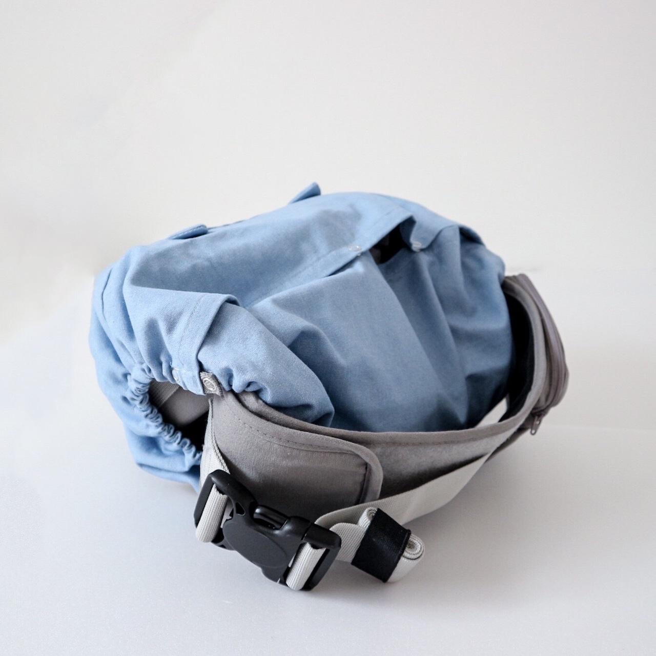 【即日発送対応】つみきどうぶつの抱っこ紐収納カバー ヒップシートサイズ うすデニム