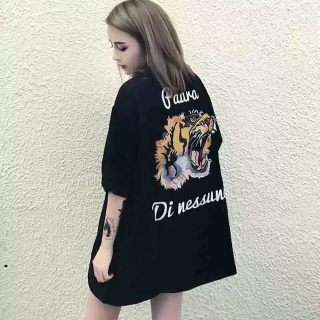 【トップス】男女兼用タイガー図柄簡約・シンプルプリントTシャツ28088857