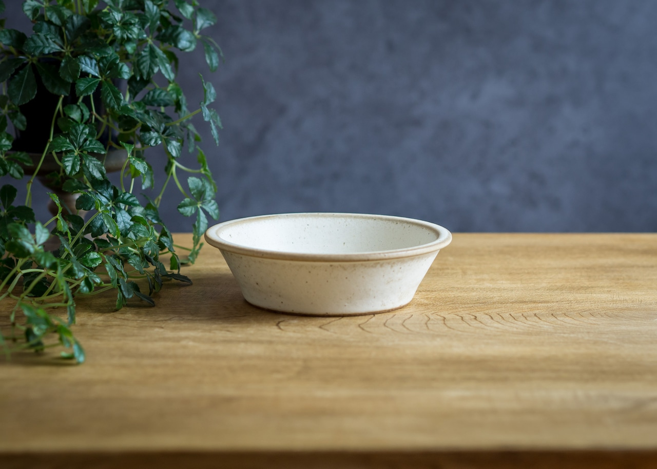 SHIROUMA 浅鉢 15cm 白(シリアルボウル・グラタン皿・耐熱皿)/長谷川 哲也