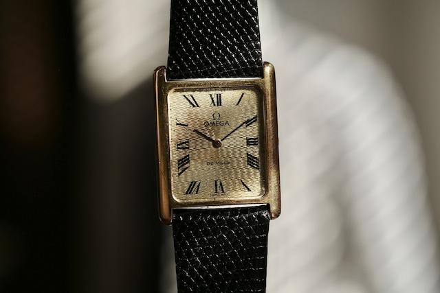 【OMEGA】 1970's オメガ デビル レクタンギュラー ローマンインデックス エイジングダイヤル TANKスタイル  / De Ville / Vintagewatch / Cal.625