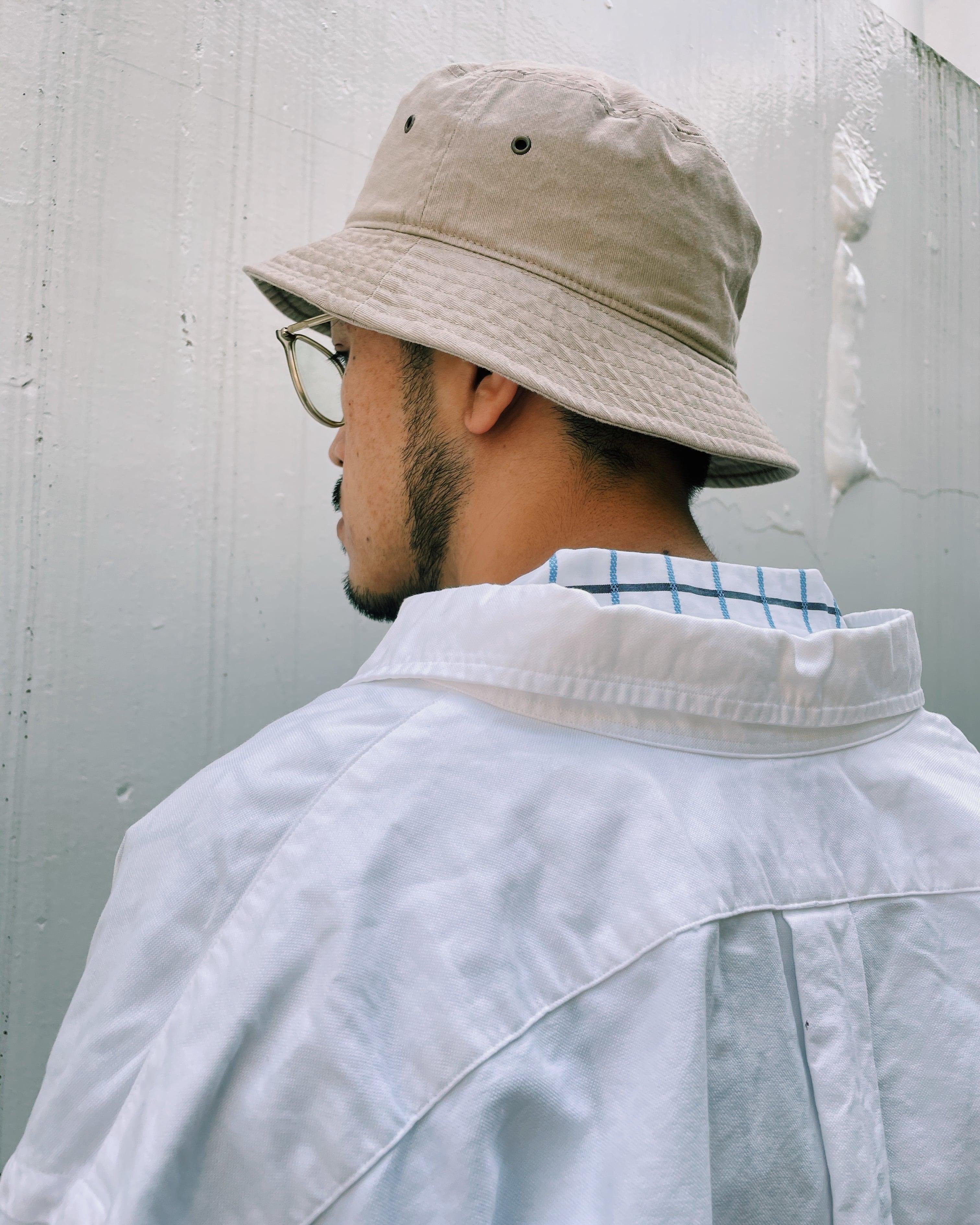 (AC113)newhattan Bucket hat (beige)