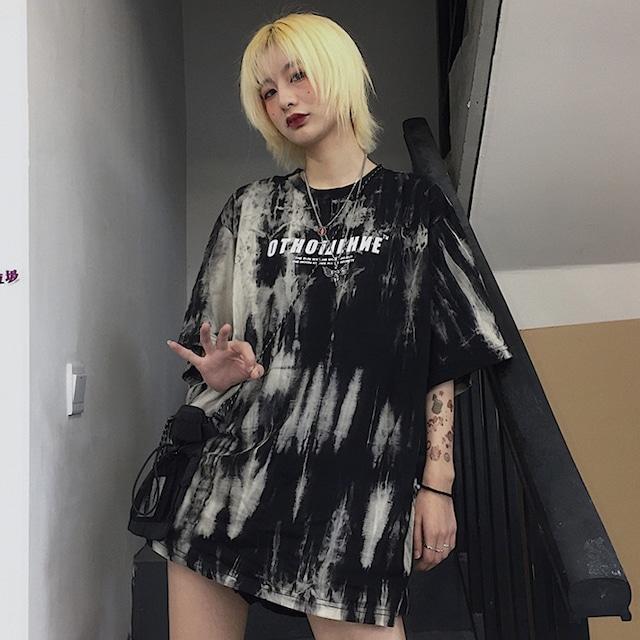 【トップス】タイダイ韓国系半袖ストリート系カジュアルTシャツ43706901