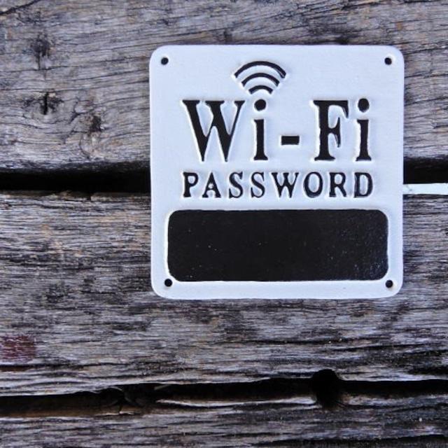 アイアンサインプレート Wi-Fi password
