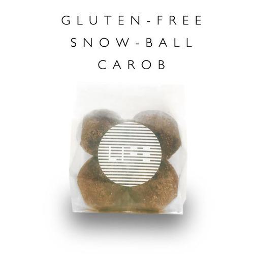 グルテンフリー 米粉のスノーボールクッキー <キャロブ>