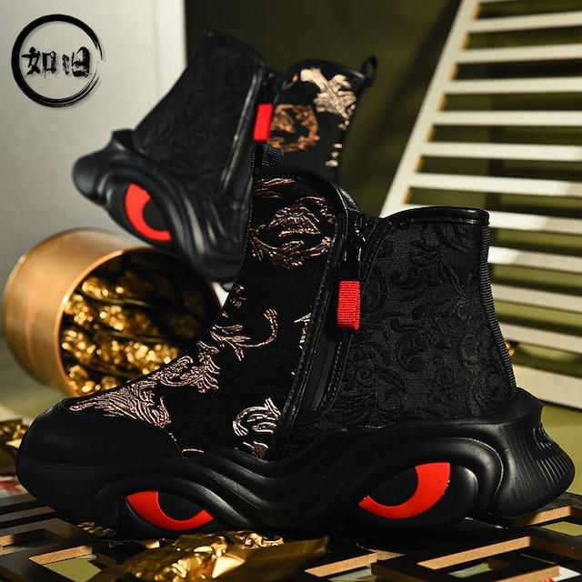 【如旧シリーズ】★靴★ メンズ 刺繍 ブーツ シューズ チャイナ風靴 サイズ39 40 41 42 43 44 独特なデザイン