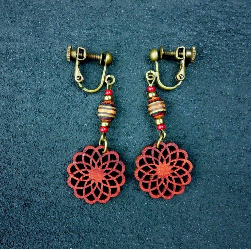 geometric earring EKM-WB-PD