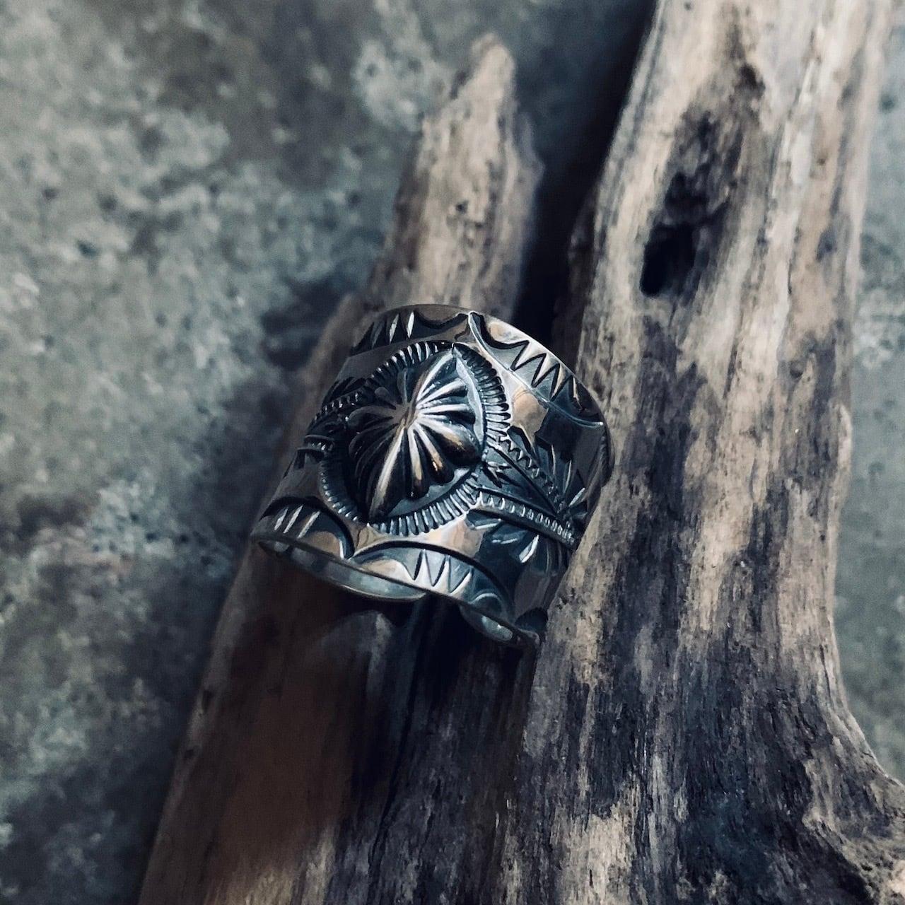 Sunburst Wide Ring