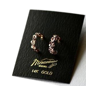 ハワイアンジュエリー / 14K PINK GOLD ピアス / プルメリア6連