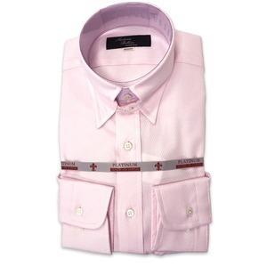 国産タブカラーシャツ ピンク