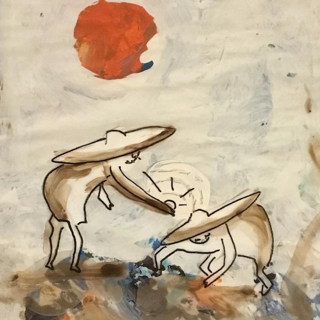 絵画 絵 ピクチャー 縁起画 モダン シェアハウス アートパネル アート art 14cm×14cm 一人暮らし 送料無料 インテリア 雑貨 壁掛け 置物 おしゃれ イラスト 貝殻 ロココロ 画家 : mycof 作品 : 貝殻をあげる