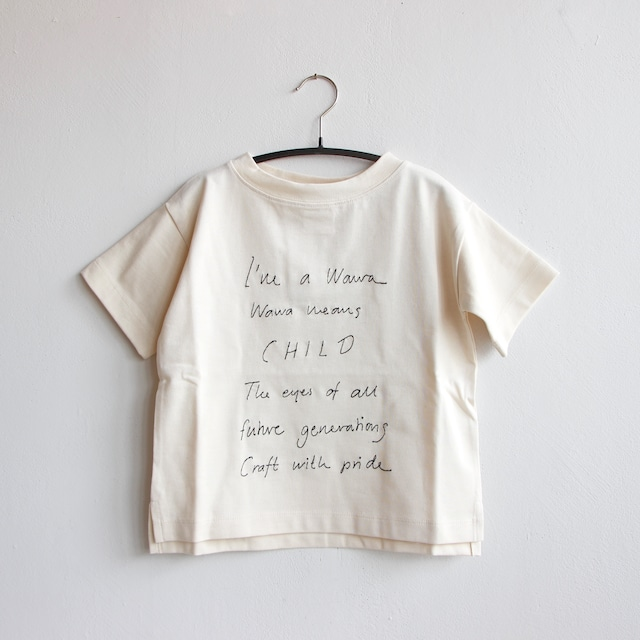《WAWA 2021SS》UNI TEE / off white × w.embroidery