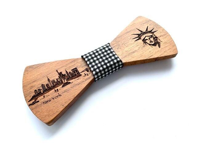 オフィシャル限定。木製 蝶ネクタイ #CityContrast NY - 画像3