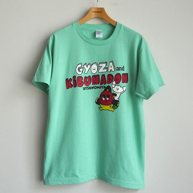 【限定カラー】Tシャツ GYOZAくん&キブナドン<Lets' Go!>