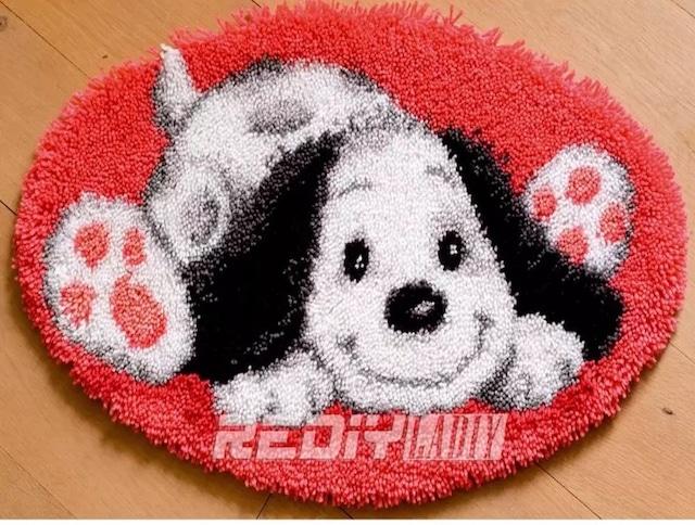 クロスステッチマット【no.013】ラッチフック刺繍