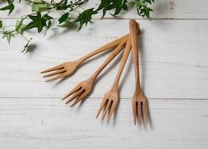 アサダ材 ディナーフォーク(オイルフィニッシュ・木のフォーク・木製カトラリー)/Canaria Wood Works